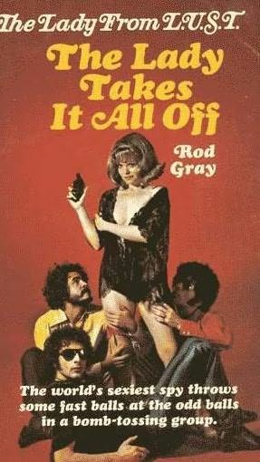 book cover of The Lady Takes It All Off